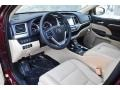 2019 Highlander Limited Platinum AWD Almond Interior