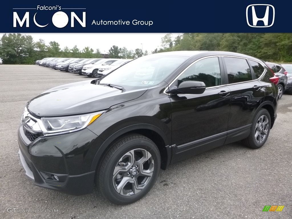 2018 CR-V EX AWD - Dark Olive Metallic / Black photo #1