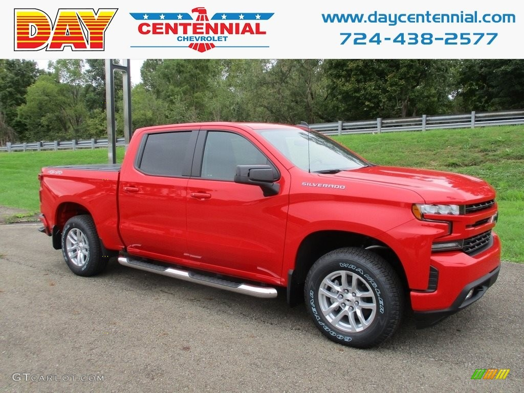 2019 Silverado 1500 RST Crew Cab 4WD - Red Hot / Jet Black photo #1