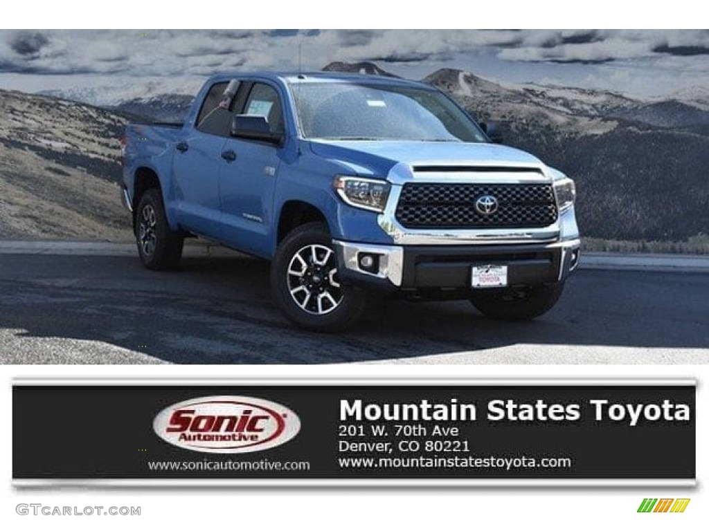 2019 Tundra SR5 CrewMax 4x4 - Cavalry Blue / Black photo #1