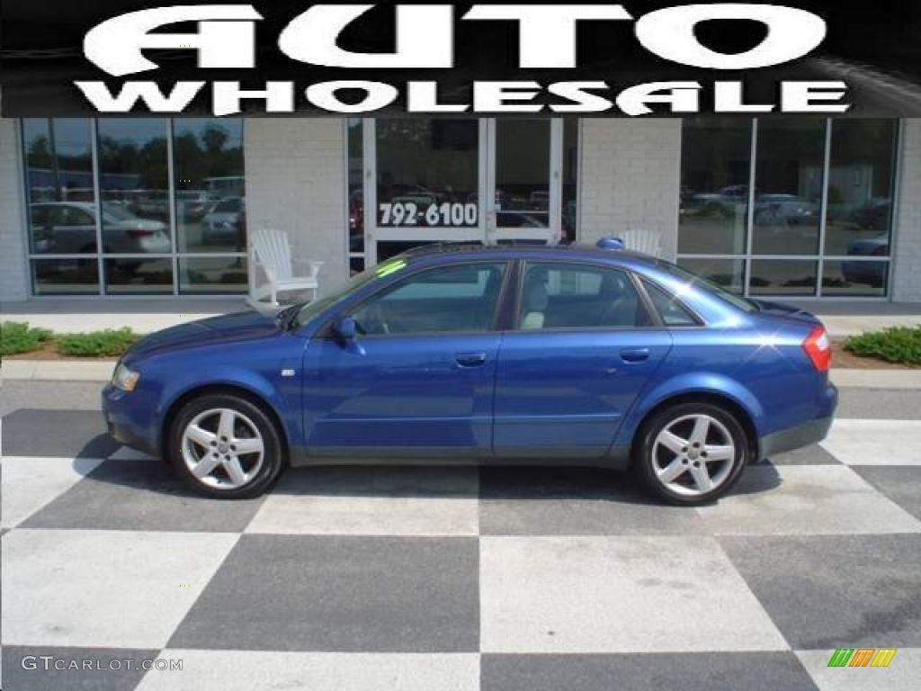 2004 a4 1 8t quattro sedan ocean blue pearl effect platinum photo 1