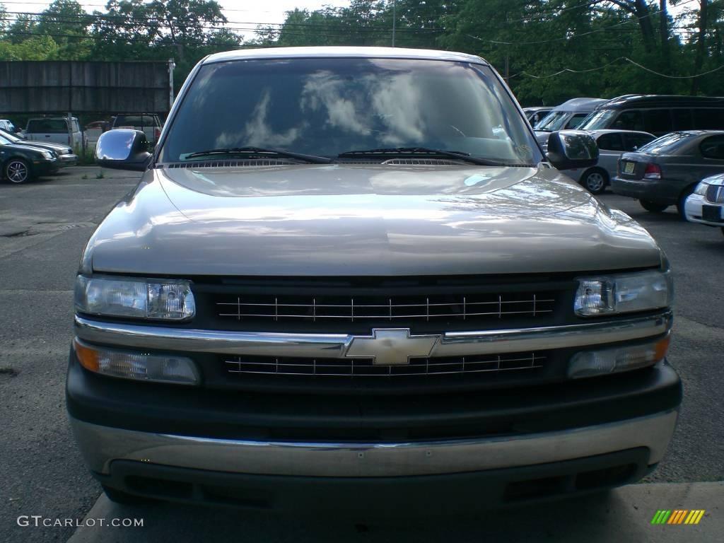 2002 Silverado 1500 LS Extended Cab - Light Pewter Metallic / Graphite Gray photo #1