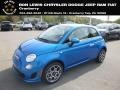 Laser Blue Metallic 2018 Fiat 500 Pop