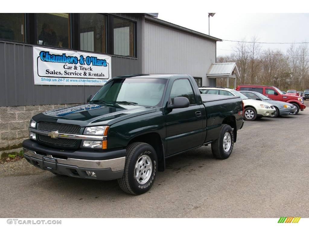 2003 Dark Green Metallic Chevrolet Silverado 1500 Ls Regular
