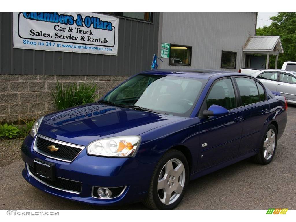 2006 malibu ss sedan laser blue metallic ebony black photo 1