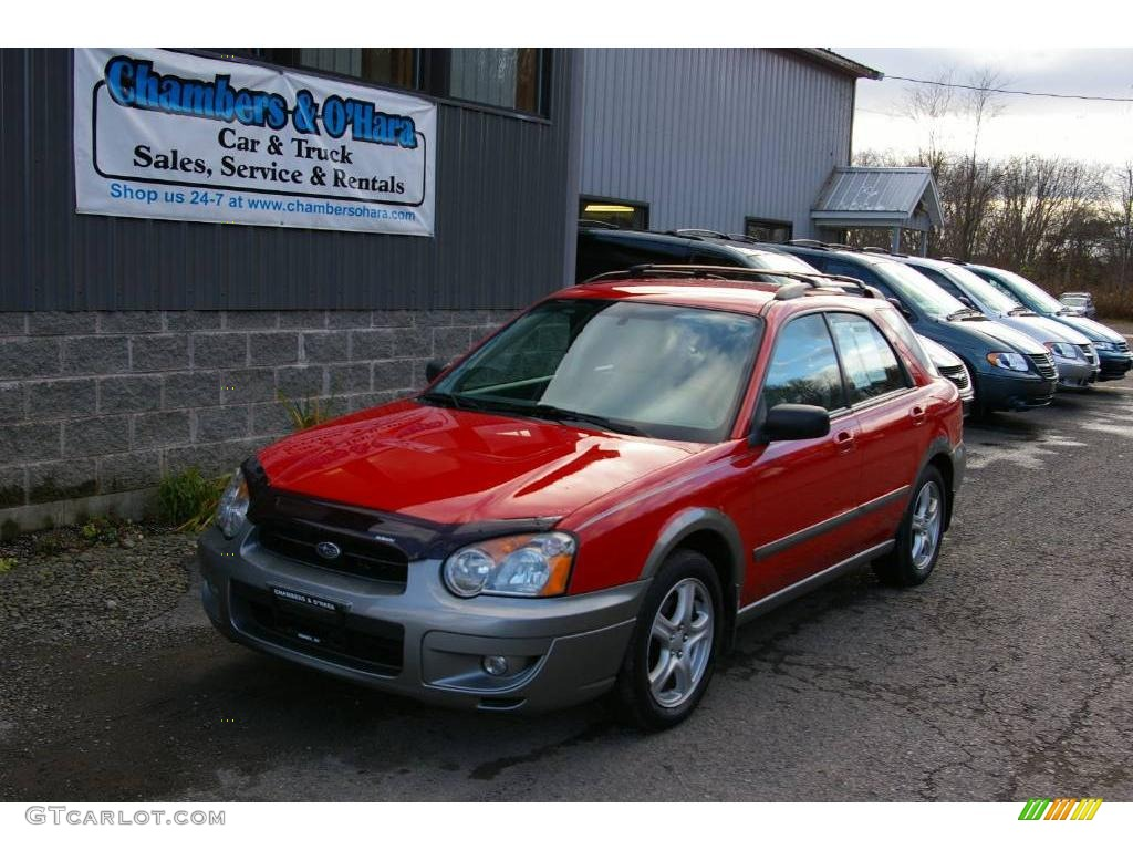 2004 san remo red subaru impreza outback sport wagon 12958119 gtcarlot com car color galleries gtcarlot com