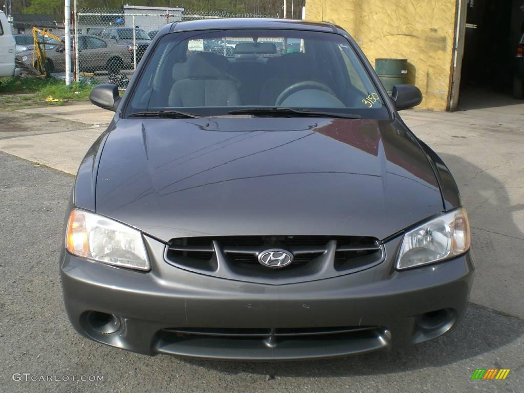 2001 charcoal gray hyundai accent gs coupe 12956440 gtcarlot com car color galleries