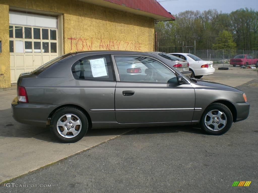 2001 Charcoal Gray Hyundai Accent Gs Coupe 12956440 Photo 8 Gtcarlot Com Car Color Galleries