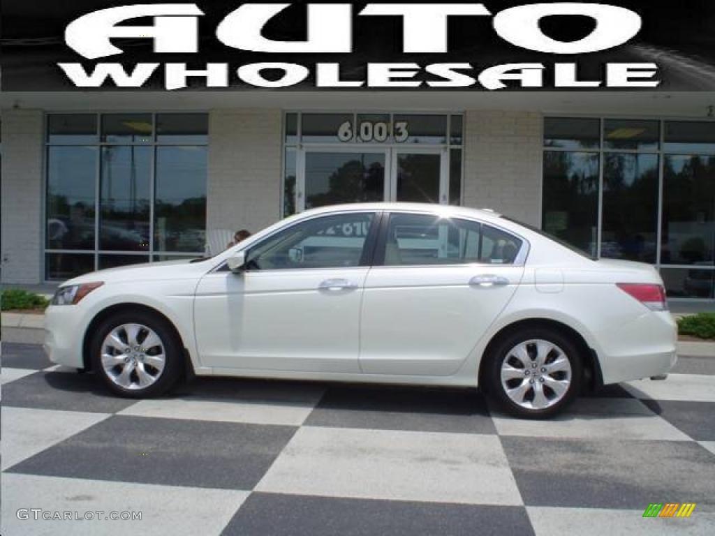 2008 White Diamond Pearl Honda Accord Ex L V6 Sedan 12962402 Gtcarlot Com Car Color Galleries