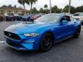 2019 Velocity Blue Ford Mustang EcoBoost Fastback  photo #1
