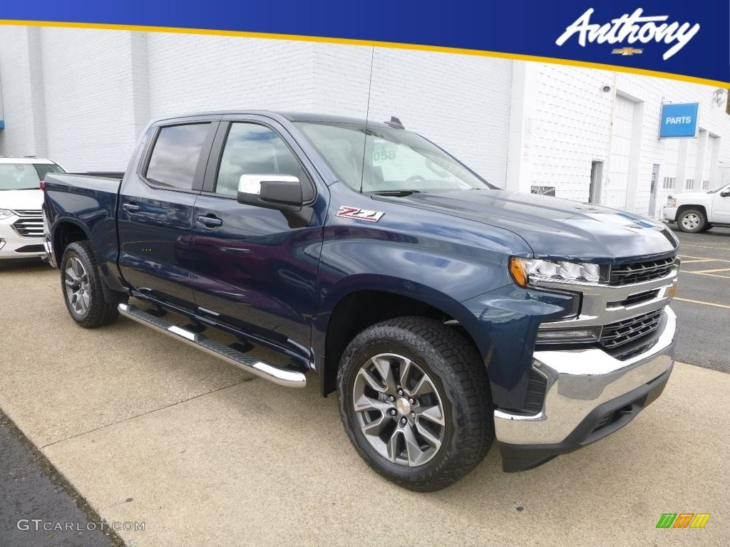 2019 Silverado 1500 LT Crew Cab 4WD - Northsky Blue Metallic / Jet Black photo #1