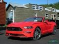 2019 Race Red Ford Mustang EcoBoost Convertible  photo #1