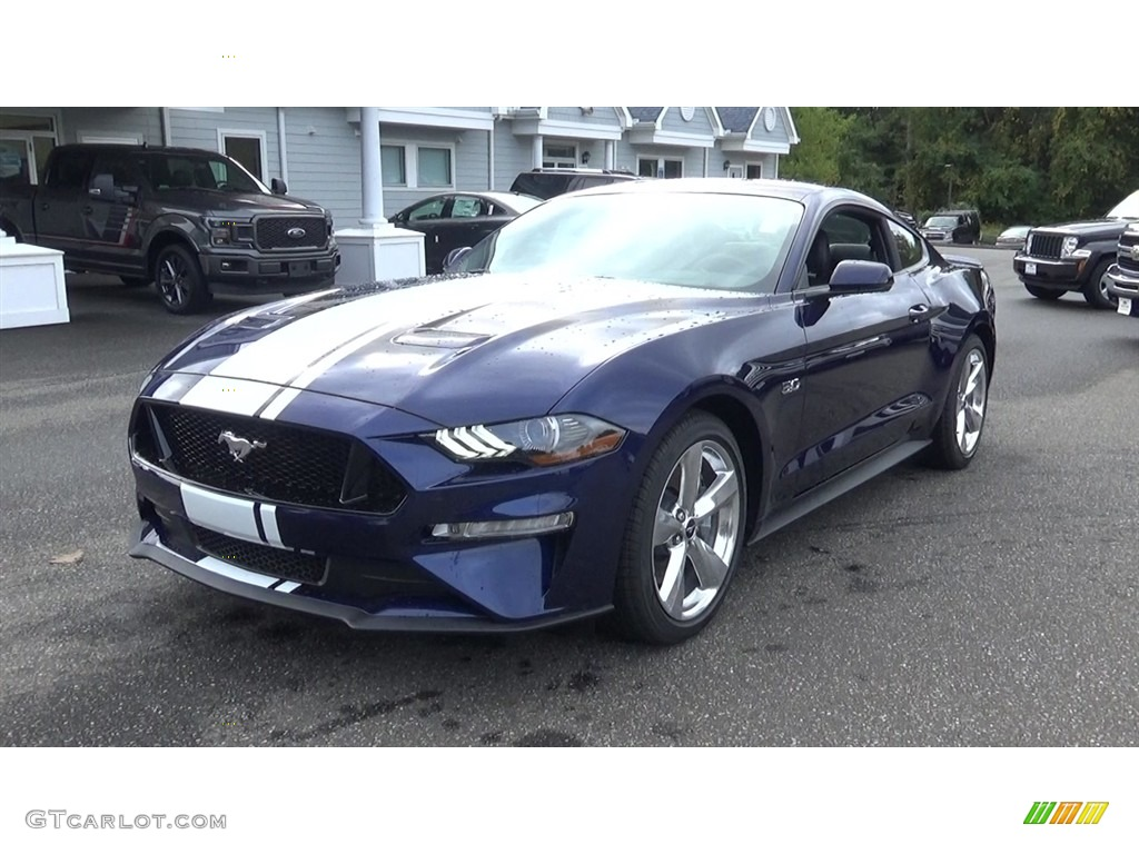 2019 Mustang GT Premium Fastback - Kona Blue / Ebony photo #3
