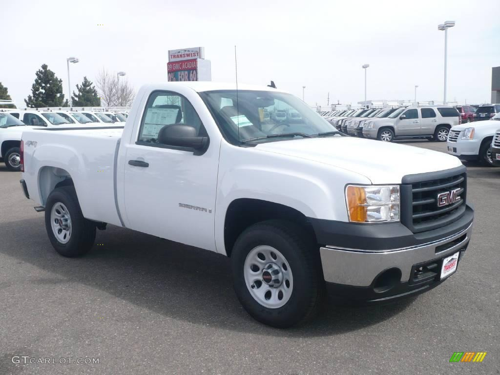 Summit White Gmc Sierra 1500 Work Truck Regular Cab 4x4