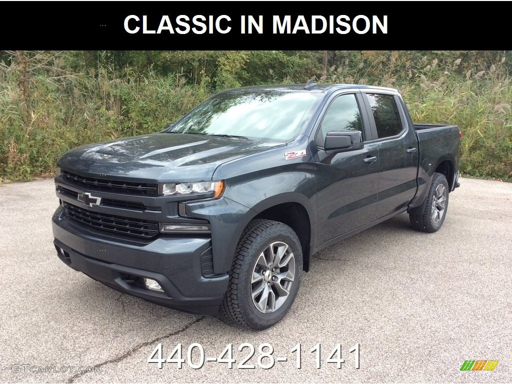 2019 Silverado 1500 RST Crew Cab 4WD - Shadow Gray Metallic / Jet Black photo #1