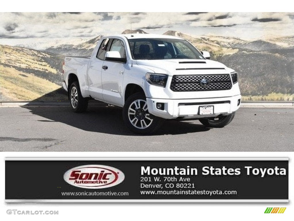 2019 Tundra TRD Sport Double Cab 4x4 - Super White / Graphite photo #1