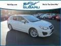 Satin White Pearl 2013 Subaru Impreza 2.0i Premium 5 Door