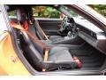 Black/Lava Orange Front Seat Photo for 2016 Porsche 911 #130013043