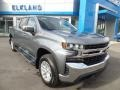 2019 Satin Steel Metallic Chevrolet Silverado 1500 LT Crew Cab 4WD  photo #3