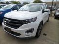 White Platinum 2018 Ford Edge Sport AWD