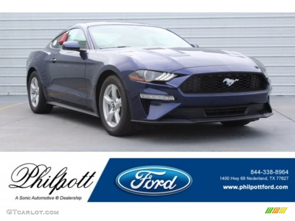 2019 Mustang EcoBoost Fastback - Kona Blue / Ebony photo #1