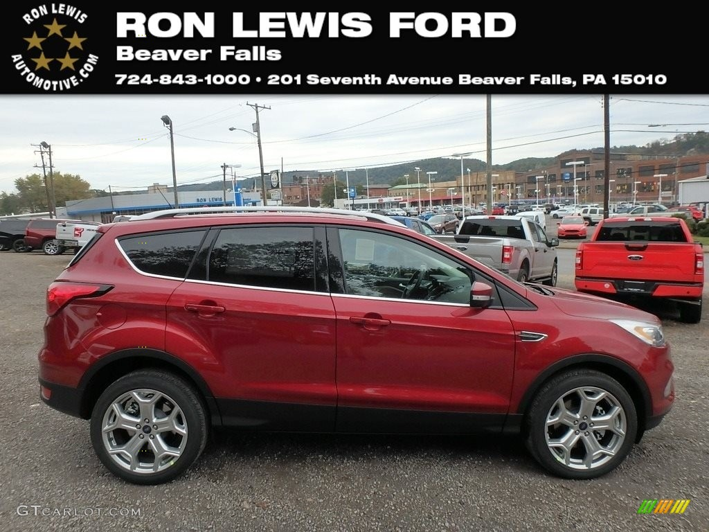 2019 Escape Titanium 4WD - Ruby Red / Medium Light Stone photo #1