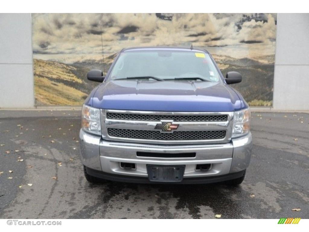 2013 Silverado 1500 LT Extended Cab 4x4 - Blue Topaz Metallic / Light Titanium/Dark Titanium photo #8