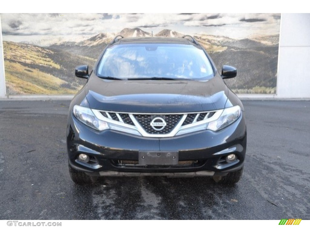 2012 Murano LE AWD - Super Black / Black photo #8