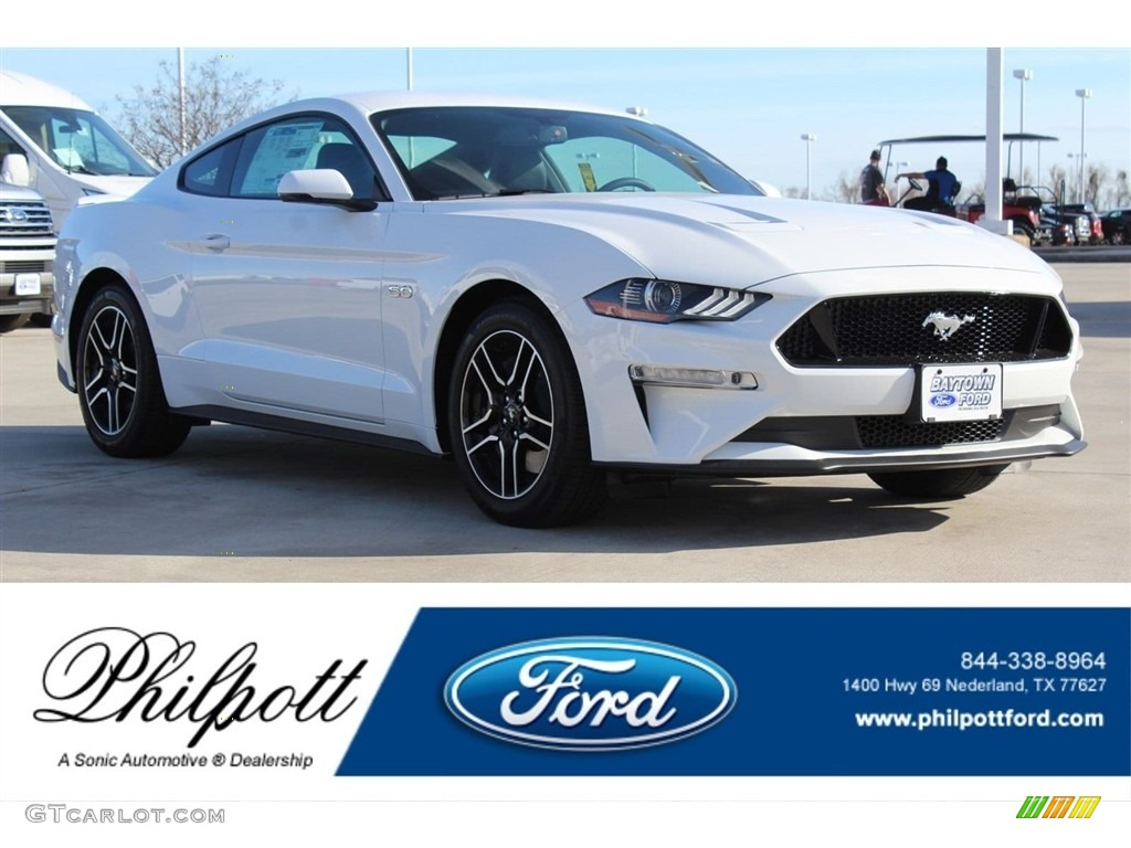 2018 Mustang GT Premium Fastback - Oxford White / Ebony photo #1