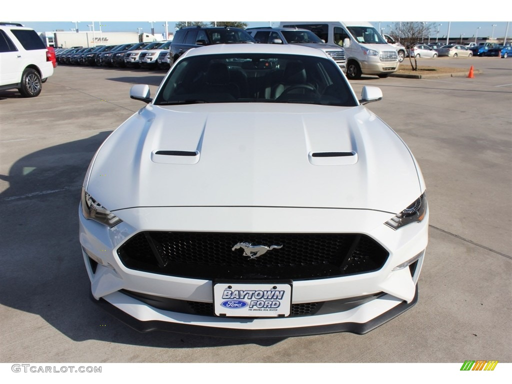 2018 Mustang GT Premium Fastback - Oxford White / Ebony photo #2