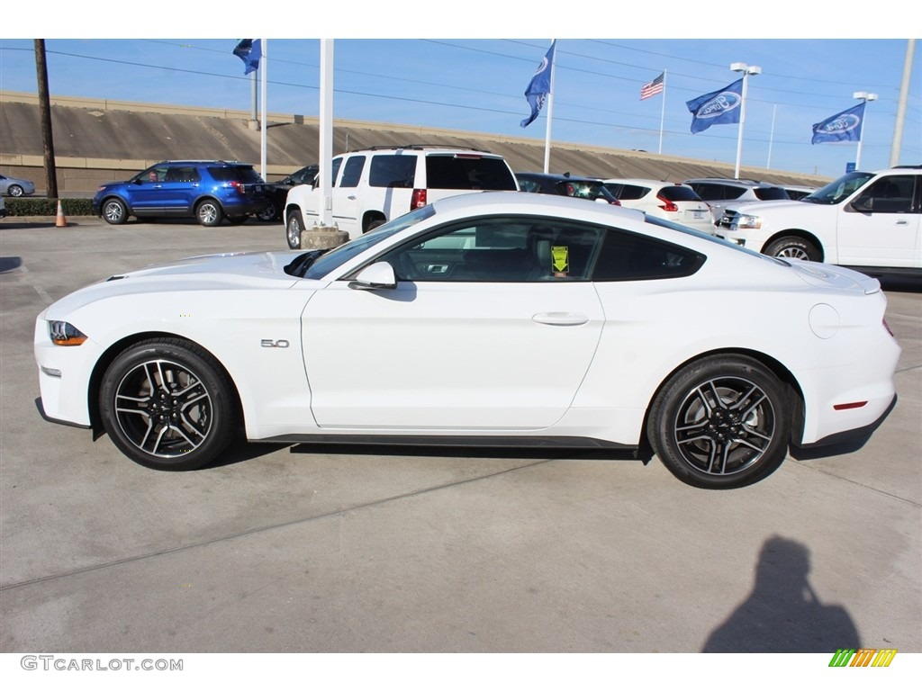 2018 Mustang GT Premium Fastback - Oxford White / Ebony photo #3