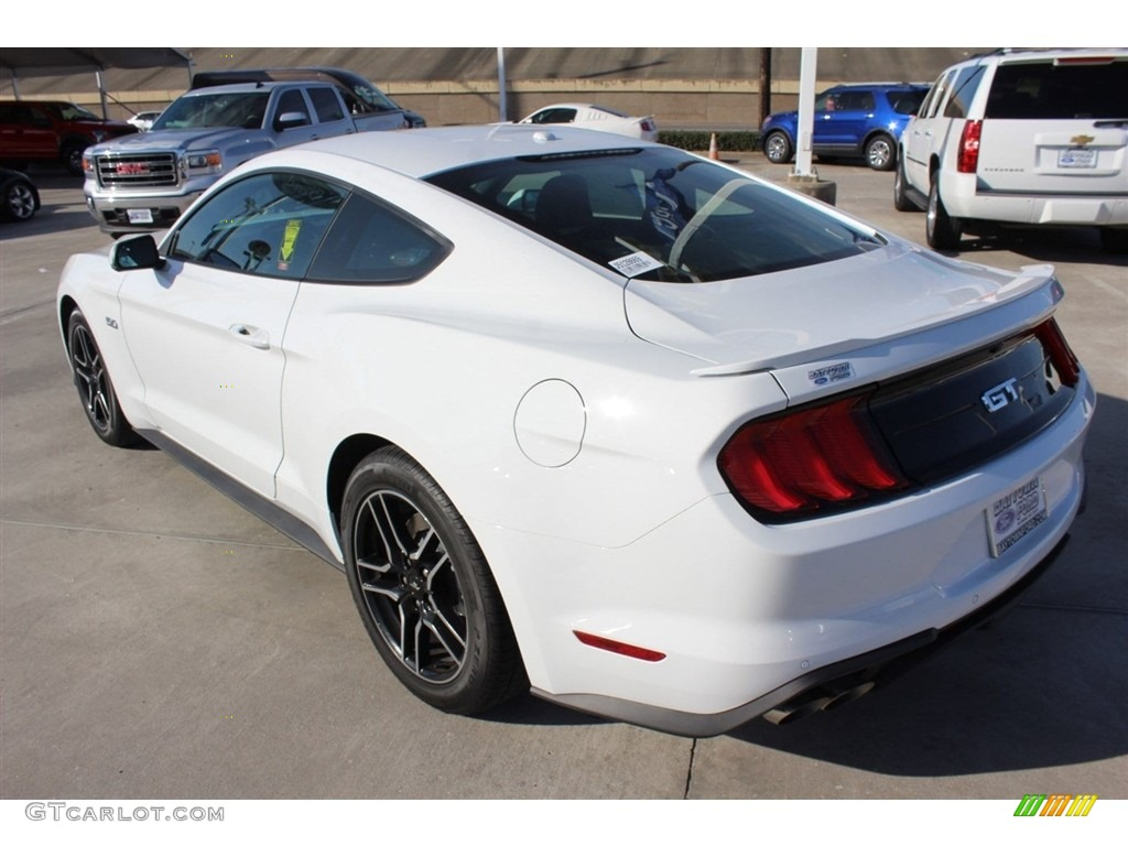 2018 Mustang GT Premium Fastback - Oxford White / Ebony photo #4