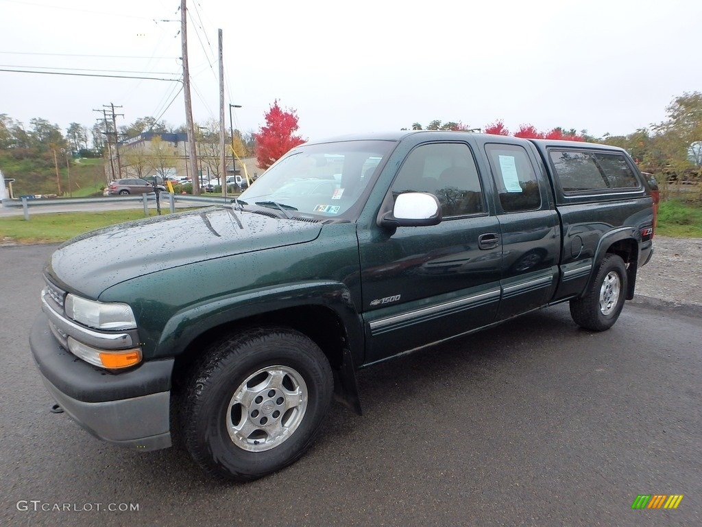 2002 Silverado 1500 LS Extended Cab 4x4 - Forest Green Metallic / Graphite Gray photo #1