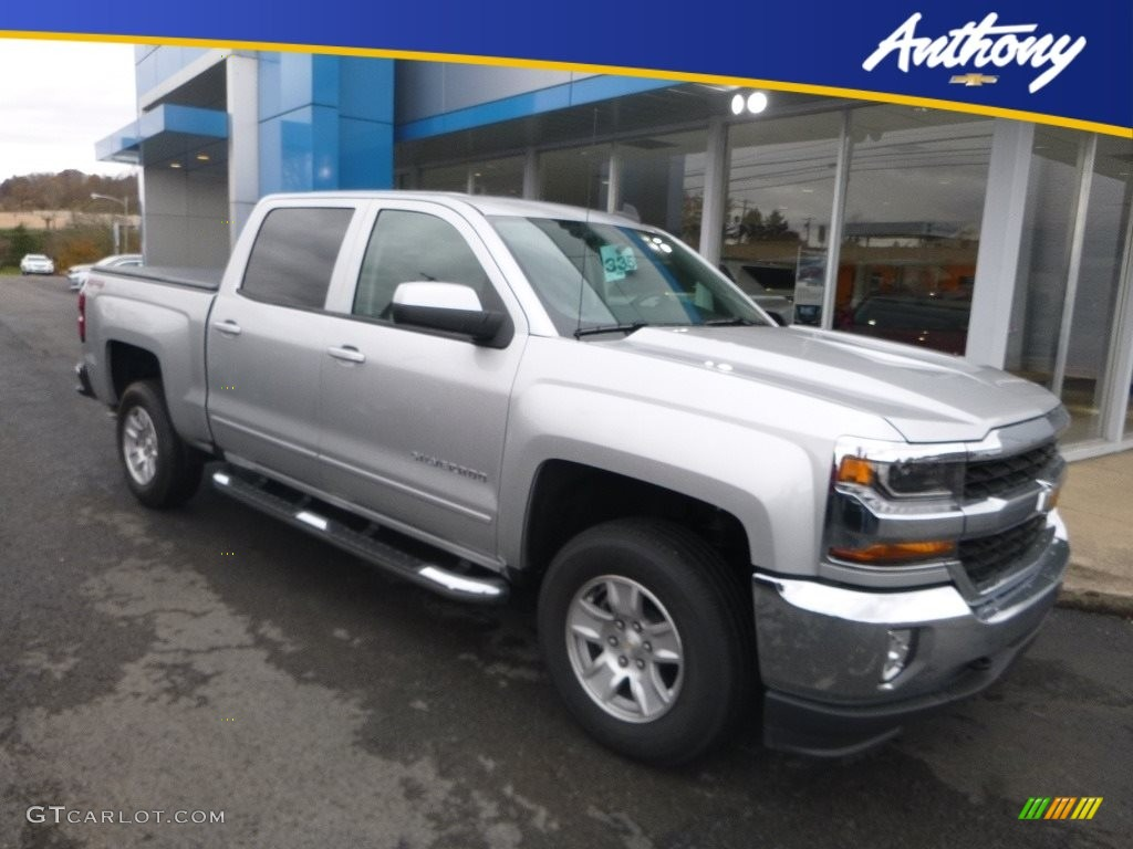 2018 Silverado 1500 LT Crew Cab 4x4 - Silver Ice Metallic / Jet Black photo #1