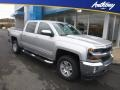 2018 Silver Ice Metallic Chevrolet Silverado 1500 LT Crew Cab 4x4  photo #1