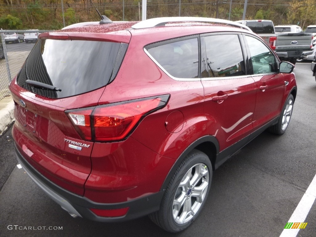 2019 Escape Titanium 4WD - Ruby Red / Chromite Gray/Charcoal Black photo #2