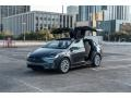 Titanium Metallic 2016 Tesla Model X 90D