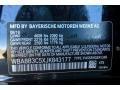 2018 3 Series 340i Sedan Black Sapphire Metallic Color Code 475