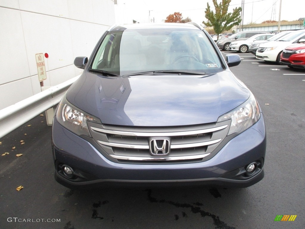 2012 CR-V EX-L 4WD - Twilight Blue Metallic / Gray photo #8