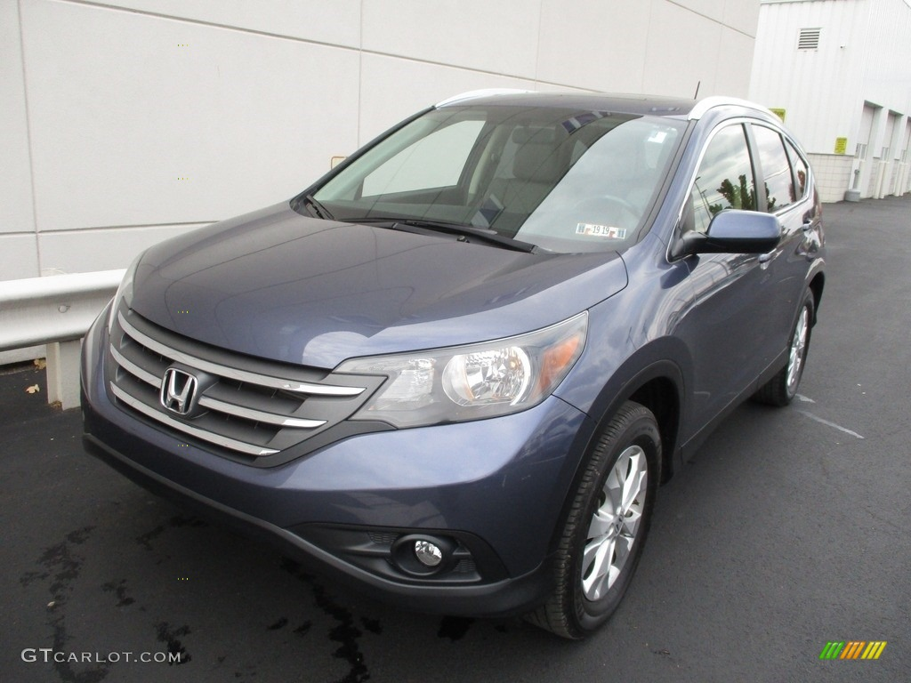 2012 CR-V EX-L 4WD - Twilight Blue Metallic / Gray photo #9