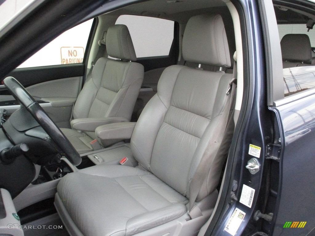 2012 CR-V EX-L 4WD - Twilight Blue Metallic / Gray photo #12
