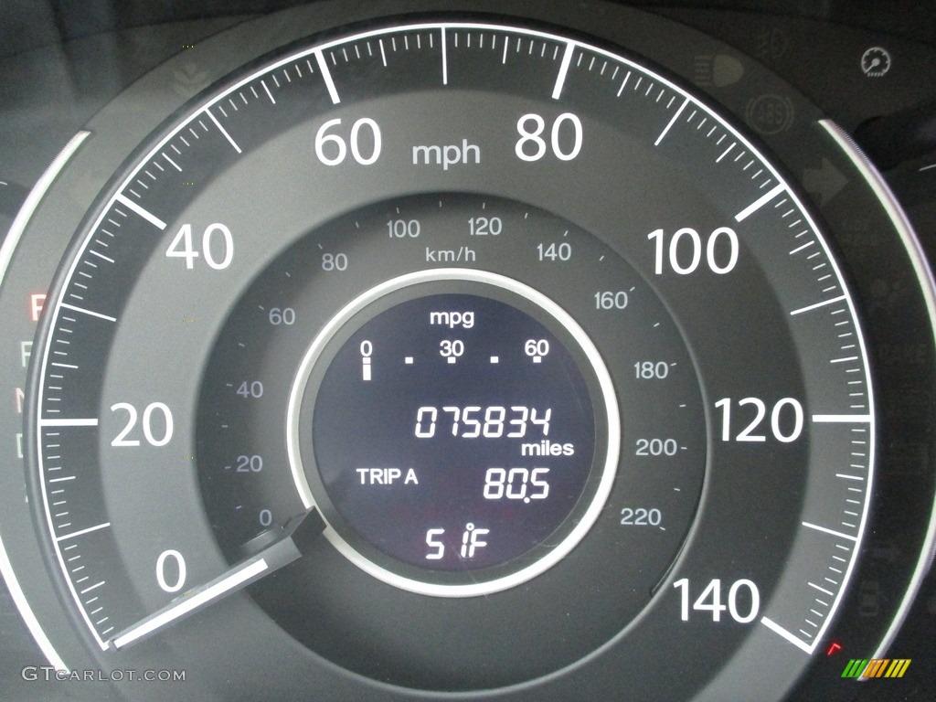 2012 CR-V EX-L 4WD - Twilight Blue Metallic / Gray photo #20