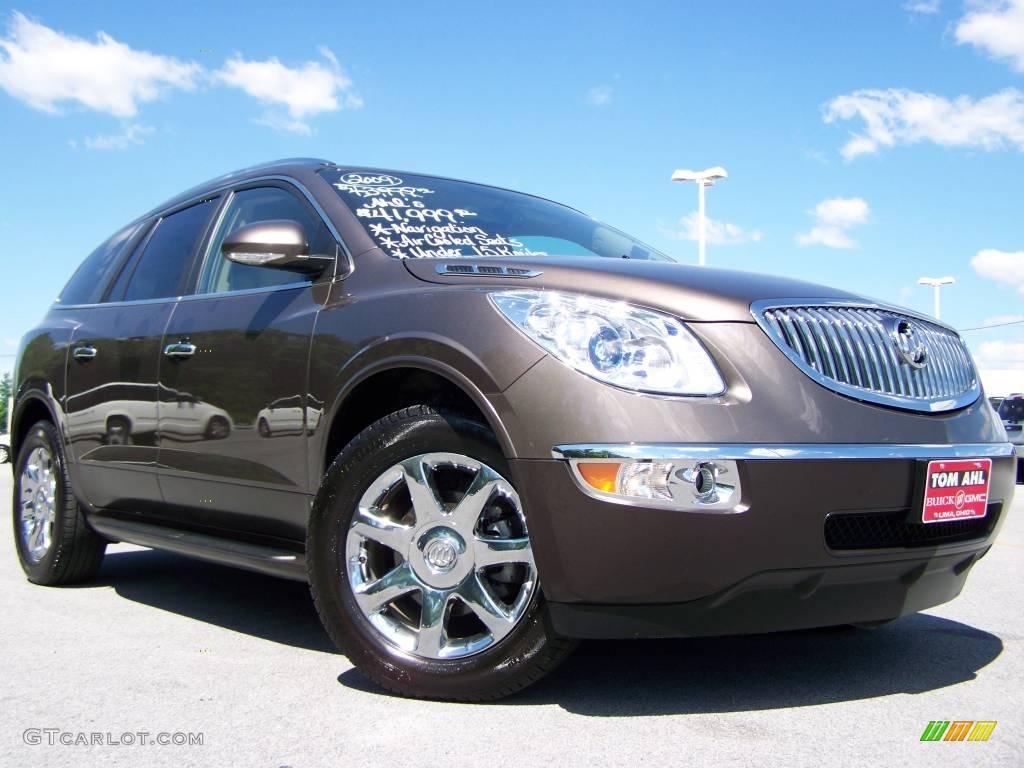 2009 Enclave CXL AWD - Cocoa Metallic / Cocoa/Cashmere photo #1