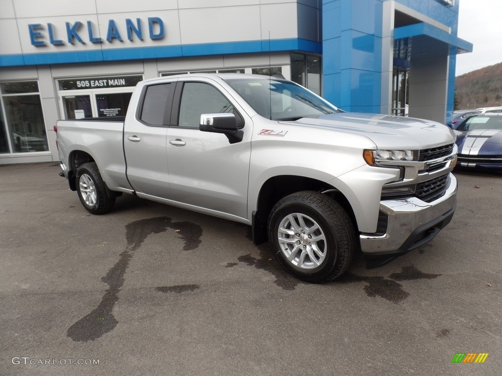 2019 Silverado 1500 LT Z71 Double Cab 4WD - Silver Ice Metallic / Jet Black photo #1