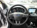 Chromite Gray/Charcoal Black Steering Wheel Photo for 2019 Ford Escape #130433572