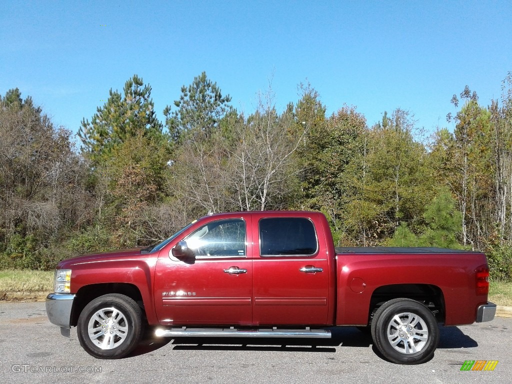2013 Silverado 1500 LT Crew Cab - Deep Ruby Metallic / Ebony photo #1