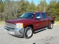 2013 Deep Ruby Metallic Chevrolet Silverado 1500 LT Crew Cab  photo #2