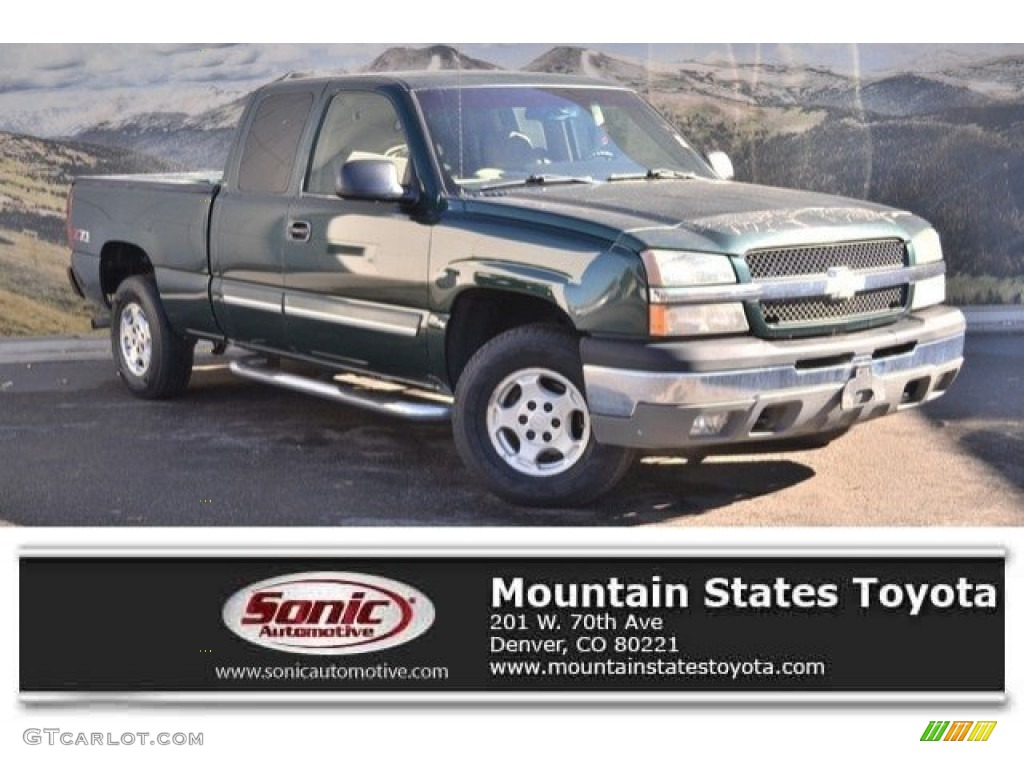 Dark Green Metallic Chevrolet Silverado 1500