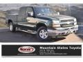 2003 Dark Green Metallic Chevrolet Silverado 1500 LS Extended Cab 4x4  photo #1
