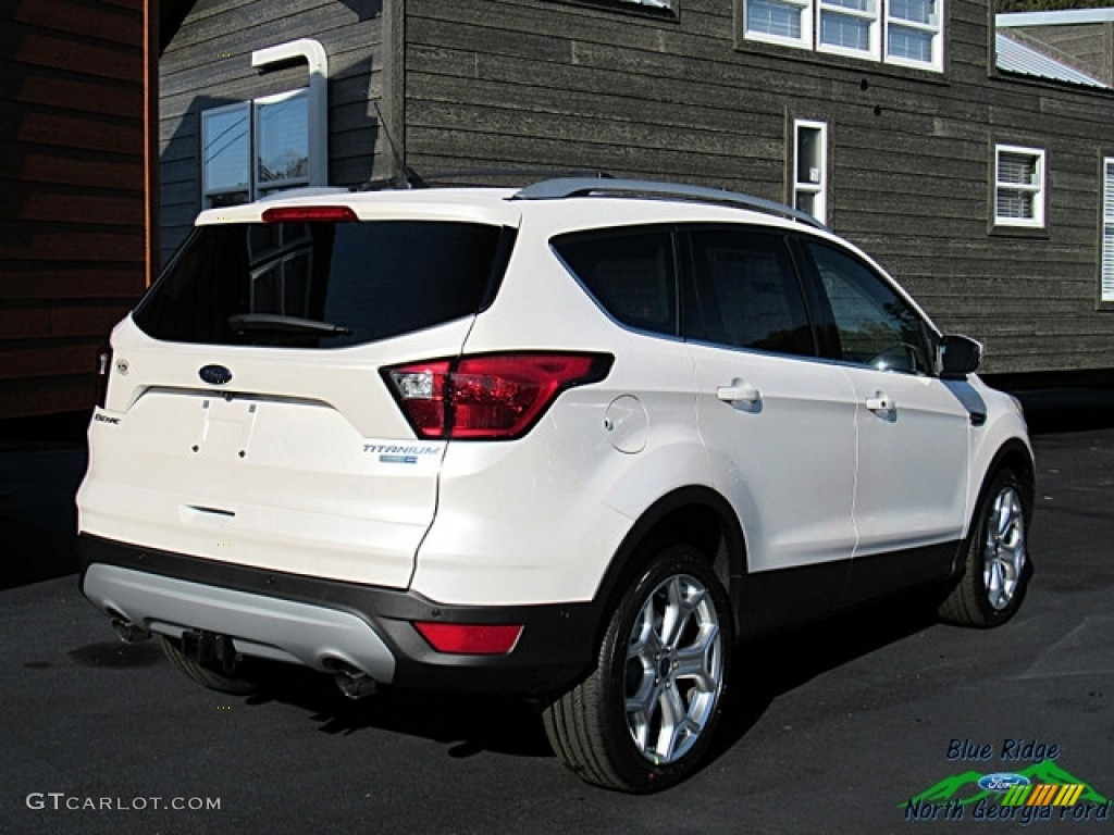 2019 Escape Titanium 4WD - White Platinum / Chromite Gray/Charcoal Black photo #5